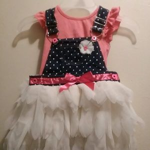 Little Girl Dress With Jean Top A Tulle Bottom